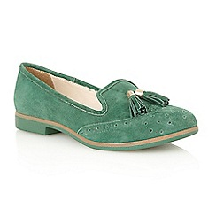Lotus - Green suede 'Glady' court shoes