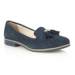 Lotus - Navy suede 'Glady' court shoes