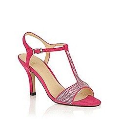 Lotus - Fuchsia microfibre 'Fenella' T-Bar sandals