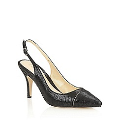 Lotus - Black print 'Jaenelle' court shoes
