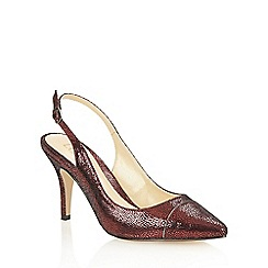 Lotus - Dark red print 'Jaenelle' court shoes