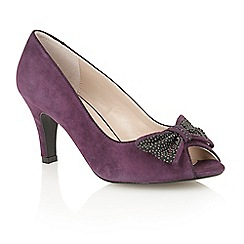 Lotus - Purple suede 'Bernadette' court shoes
