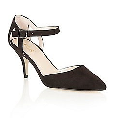 Lotus - Black microfibre 'Ursula' court shoes