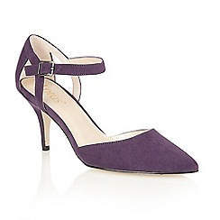 Lotus - Purple microfibre 'Ursula' court shoes