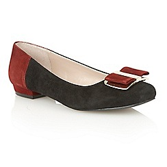 Lotus - Black multi suede 'Sessile' court shoes