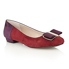 Lotus - Bordeaux multi suede 'Sessile' court shoes