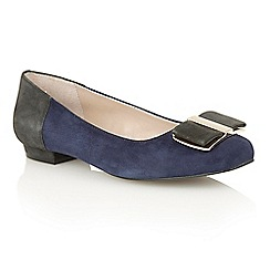 Lotus - Navy multi suede 'Sessile' court shoes