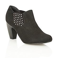 Lotus - Black microfibre 'Yuko' court shoes