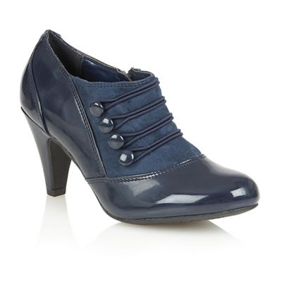 Lotus Navy shiny Kyrene court shoes