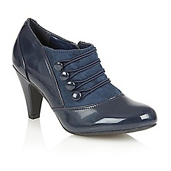 Lotus - Navy shiny 'Kyrene' court shoes