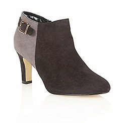 Lotus - Black grey 'Caera' shoe boots