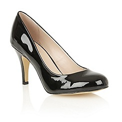 Lotus - Black shiny 'Izzile' court shoes