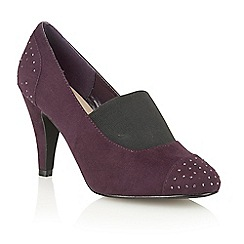 Lotus - Purple microfibre 'Llorna' court shoes