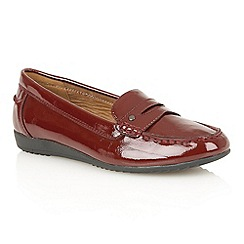 Lotus - Bordeaux shiny 'Blount' flats