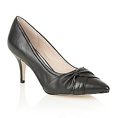 Lotus - Black leather 'Drape' court shoes