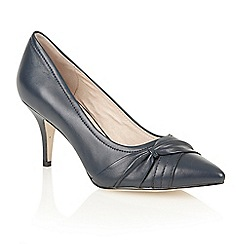 Lotus - Navy leather 'Drape' court shoes