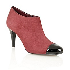 Lotus - Bordeaux suede black shiny 'Kari' shoe boots