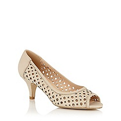 Lotus - Natural leather 'Danita' peep toe courts