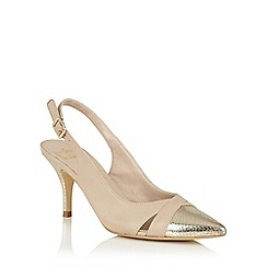 Lotus - Beige gold 'Ewelina' sling back courts
