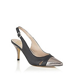 Lotus - Navy silver 'Ewelina' sling back courts