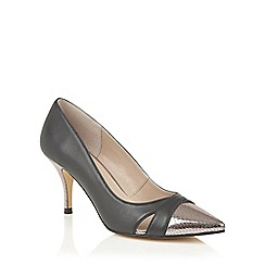 Lotus - Navy silver leather 'Antonia' courts