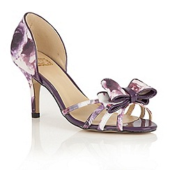 Lotus - Purple floral 'Camera' peep toe courts