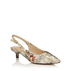 Lotus - Beige multi 'Cass' sling back courts