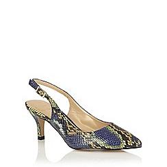Lotus - Blue snake print 'Zandra' sling back courts