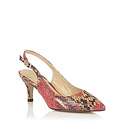Lotus - Red snake print 'Zandra' sling back courts