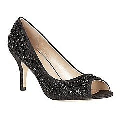 Lotus - Black diamante 'Serenity' high heel court shoes