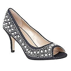 Lotus - Blue 'Serenity' diamante peep toe courts