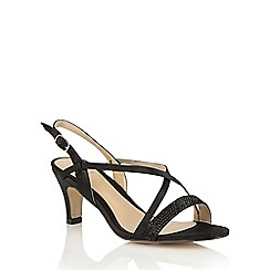 Lotus - Black satin 'Miren' open toe sandals