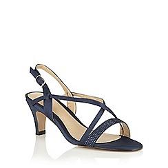 Lotus - Navy satin 'Miren' open toe sandals