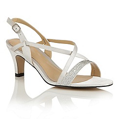 Lotus - Silver satin 'Miren' open toe sandals
