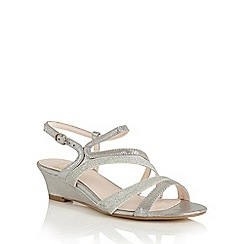 Lotus - Silver shimmer 'Hazeline' wedge sandals