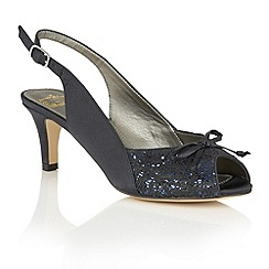 Lotus - Navy satin 'Kornelia' peep toe courts