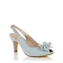Lotus - Blue suede 'Eulalia' peep toe courts