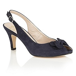Lotus - Navy suede 'Eulalia' peep toe courts