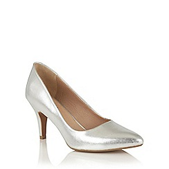 Lotus - Silver leather 'Amabel' courts