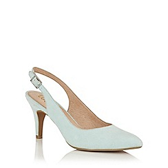 Lotus - Pale blue microfibre 'Nadia' sling back courts