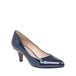 Lotus - Navy shiny 'Clio' courts
