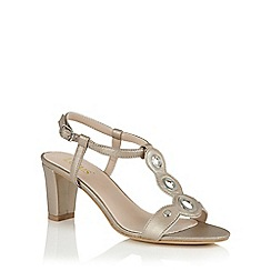 Lotus - Gold metallic 'Noa' open toe t-bar sandals