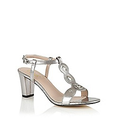 Lotus - Silver metallic 'Noa' open toe t-bar sandals