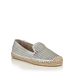 Lotus - Silver leather 'Felisa' espadrilles