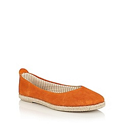 Lotus - Orange suede 'Maite' espadrilles