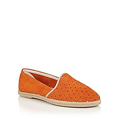 Lotus - Orange suede 'Oksana' espadrilles