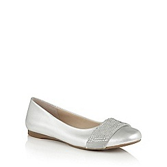 Lotus - Silver leather 'Lystra' ballets