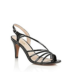 Lotus - Black shiny 'Amalia' sandals