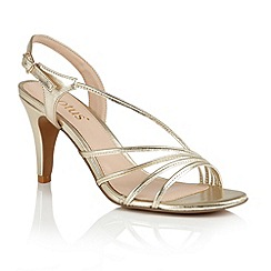 Lotus - Gold metallic 'Amalia' sandals