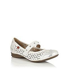 Lotus - White 'Klaudia' Mary-Jane shoes